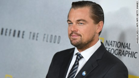 Actor Leonardo DiCaprio attends the National Geographic screening of 'Before the Flood' at United Nations Headquarters on October 20, 2016 in New York City. / AFP / ANGELA WEISS        (Photo credit should read ANGELA WEISS/AFP/Getty Images)