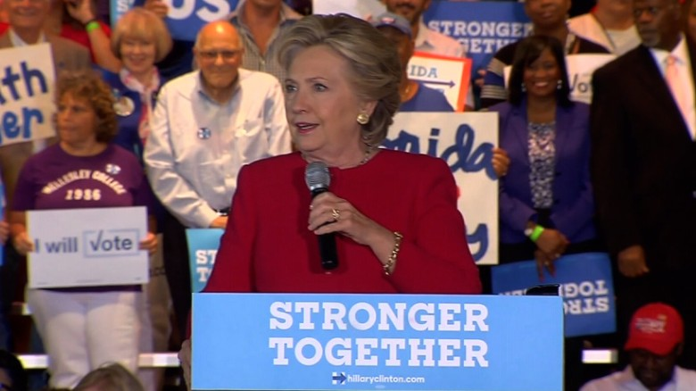 Hillary Clinton: Donald Trump is targeting Democracy