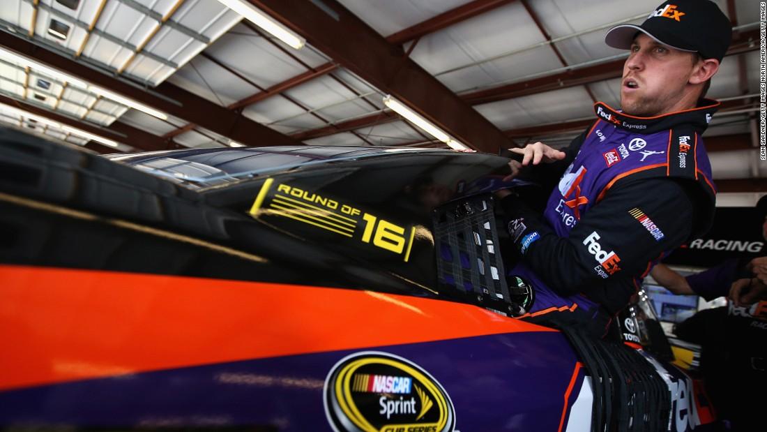 NASCAR Sprint Cup driver Denny Hamlin claimed his first career Daytona 500 win in February 2016.