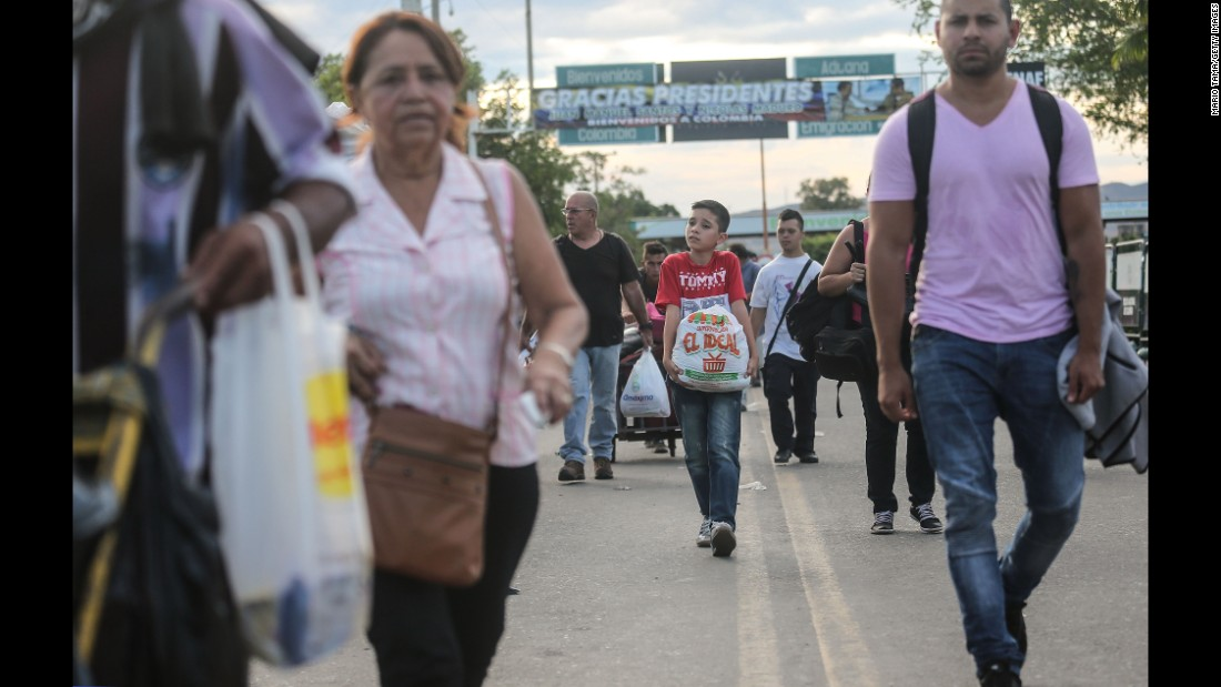 The dire economic crisis in Venezuela sends thousands of Venezuelans daily across the international border bridge to purchase food, medicine and other desperately needed supplies.