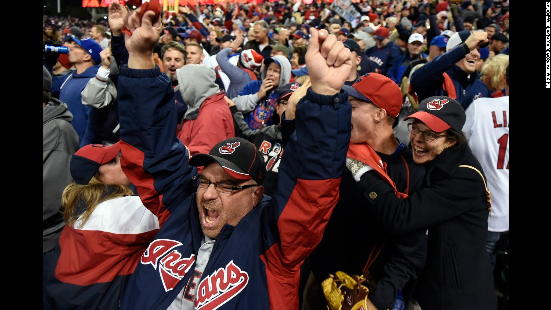 Cleveland fans react to a strikeout in Game 1.