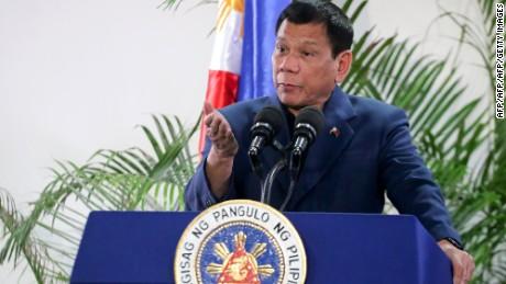 Philippine President Rodrigo Duterte in October