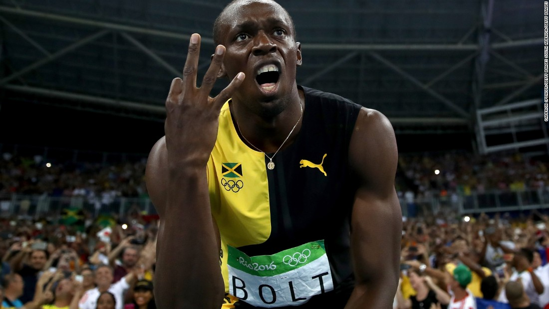 "In Brazil, Bolt sealed an unprecedented ""treble treble"" of Olympic sprint golds."