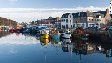 Stornoway Harbor, Isle of Lewis, Scotland.