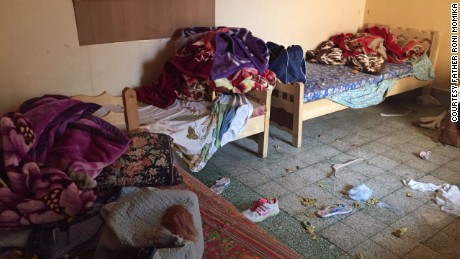 The girls hid in this room for seven hours until ISIS fighters finally left.
