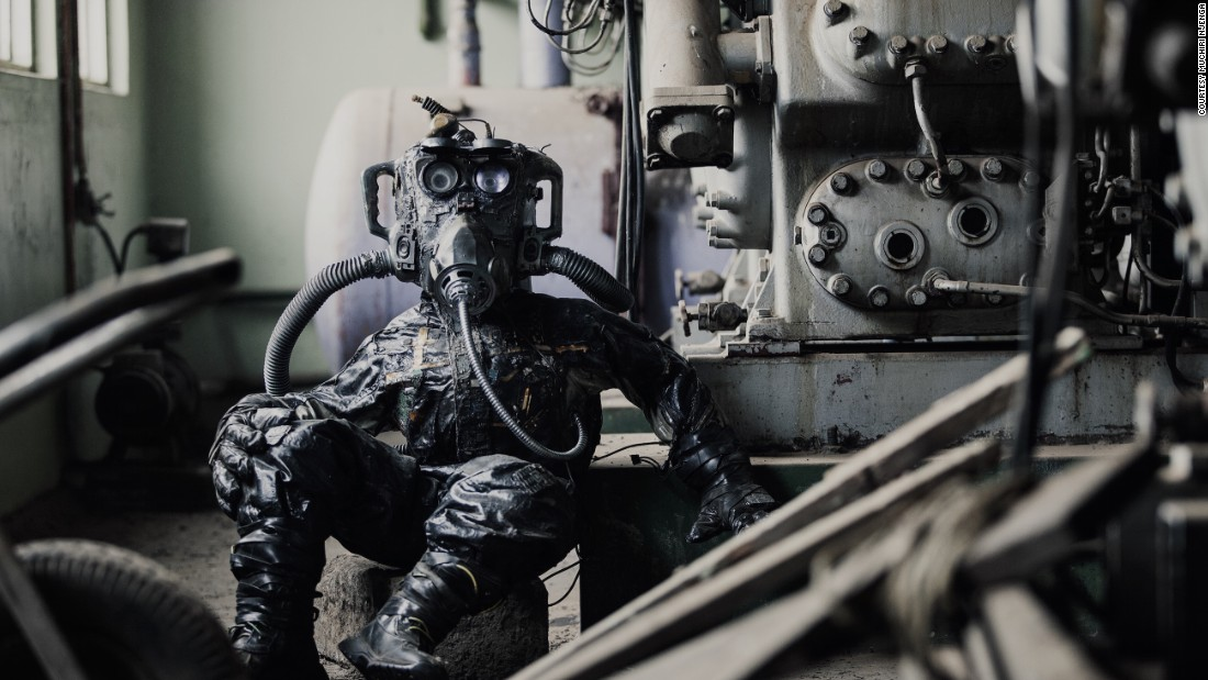 Afrocyberpunk by Njenga. 31-year-old visual artist and filmmaker Muchiri Njenga is the founder of Studio Ang, a Nairobi-based art collective, creating adverts for some of the world's biggest companies including Google, Visa and Guinness. In this image, his sci-fi character KIII treks across a burned-out factory landscape.