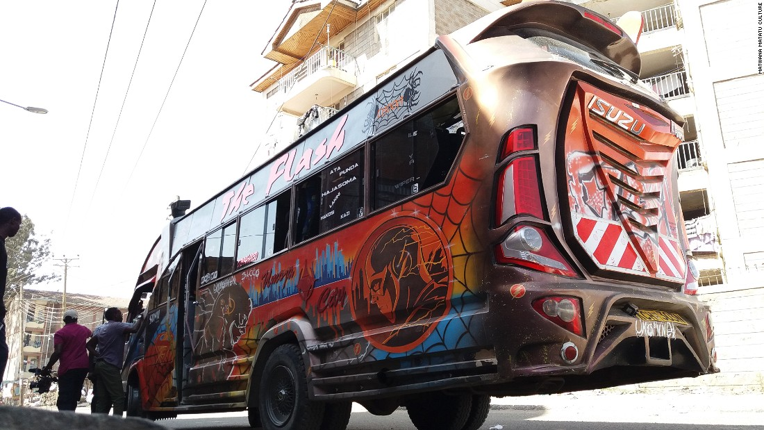 "One of the hottest matatus in town is called ""The Flash."""