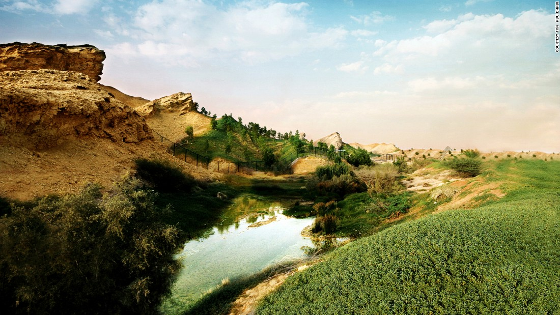 Around an hour's drive from Abu Dhabi is the city of Al Ain. Often nicknamed the Garden City, Al Ain is known for its natural springs, oases and rocky landscape.