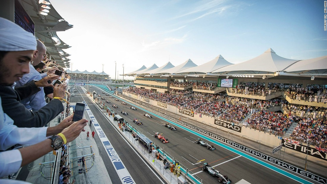 The Formula One Abu Dhabi Grand Prix takes place at the end of November. Inaugurated in 2009, the circuit is the only F1 race course in the world with covered and shaded grandstands.