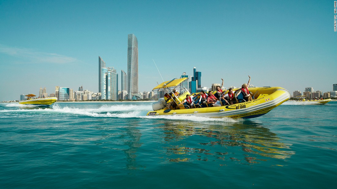 Abu Dhabi's waterfront also attracts swimmers seeking a dip at the blue-flag Corniche beach. Visitors can also sip a cocktail while watching speedboats zip by.