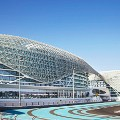 abu dhabi yas viceroy hotel straddles the f1 circuit