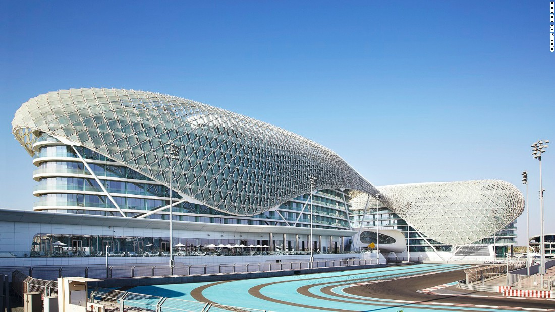 "Yas island is home to the slick <a href=""https://www.yasmarinacircuit.com/"" target=""_blank"">Yas Marina Circuit</a> and a number of luxury five star hotels such as <a href=""http://www.viceroyhotelsandresorts.com/en/abudhabi"" target=""_blank"">Yas Viceroy Abu Dhabi</a>, which straddles the circuit and has balconies overlooking the racetrack."