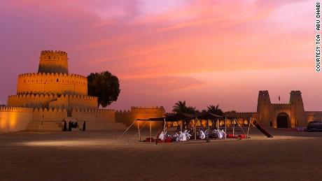 Sunset citadel: Al Jahili Fort.