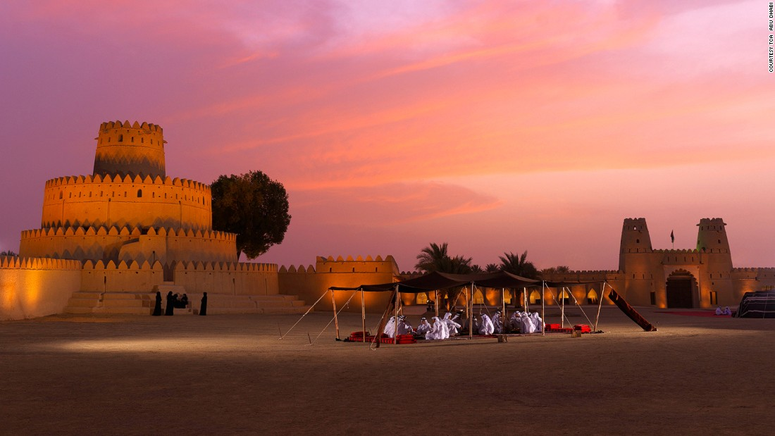 "Now a UNESCO World Heritage Site, life in Al Ain dates back more than 4,000 years. There's an abundance of small picturesque forts such as<a href=""https://www.abudhabi.ae/portal/public/en/citizens/culture_and_recreation/cultural_and_historical_sites/gen_info20?docName=ADEGP_DF_66046_EN&_adf.ctrl-state=hoixzkba9_4&_afrLoop=10801283040954667#!"" target=""_blank""> Al Jahili,</a> pictured. Popular among today's tourists, when erected in 1891 its purpose was to protect the city and the precious palm groves."