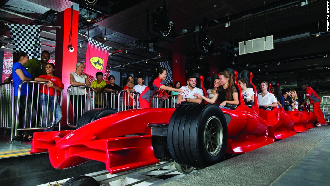 The world's only Ferrari-branded theme park has roller coasters, simulators and go-carts, as well as smaller Ferraris for kids.