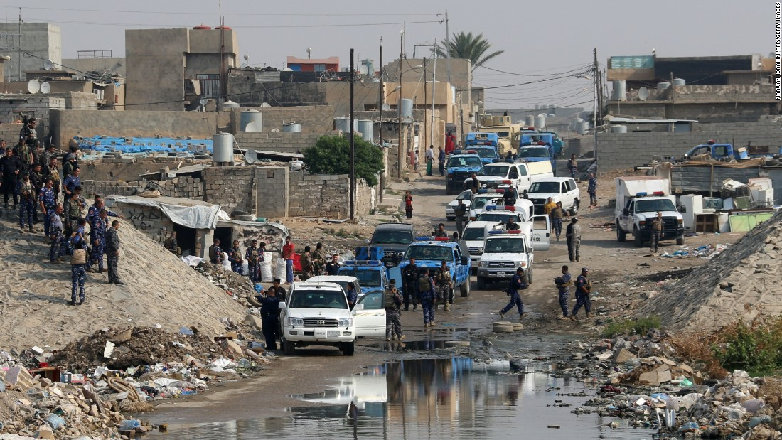 Iraqi forces patrol the Kirkuk area for members of ISIS on Tuesday, October 25. The terror group has launched surprise attacks in other parts of Iraq, including Kirkuk, to distract coalition forces from the Mosul campaign and to tie up their resources elsewhere.