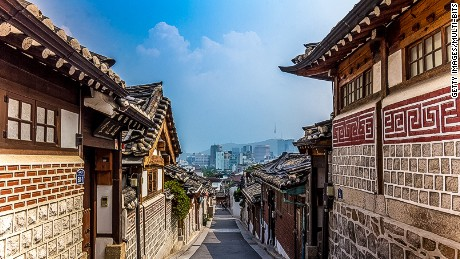 The Bukchon district of Seoul  contains the city's last remaining collection of original hanoks.