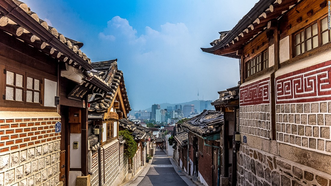"Once common throughout Korea, hanoks are single-story courtyard homes made from natural materials like brick and stone. These historic houses maintain a close relationship with the surrounding environment through the use of doors, windows and traditional pavilions known as ""jungja."""