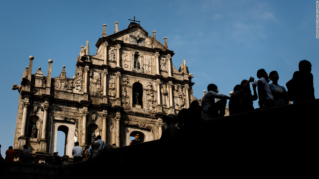 The centuries-old facade of what was originally the Cathedral of St. Paul is one of Macau's most famous landmarks.