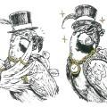 inktober fashion parrot Karl Schulschenk