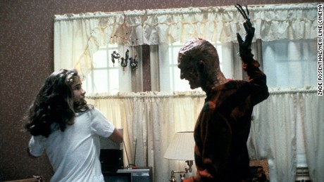 "Robert Englund as Freddie Kruger and Heather Langenkamp as Nancy Thompson in the original ""A Nightmare on Elm Street."""