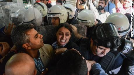 Protests turned violent last month