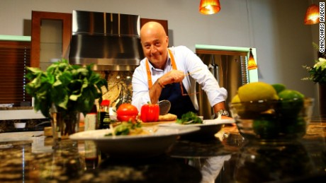 A one-way plane ticket saved Andrew Zimmern's life