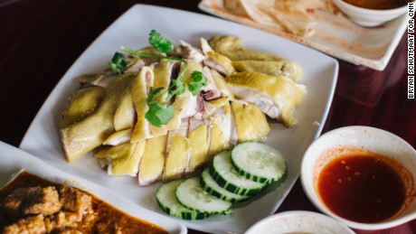 Houston's Chinatown is home to some good eating, including this Hainanese chicken dish.
