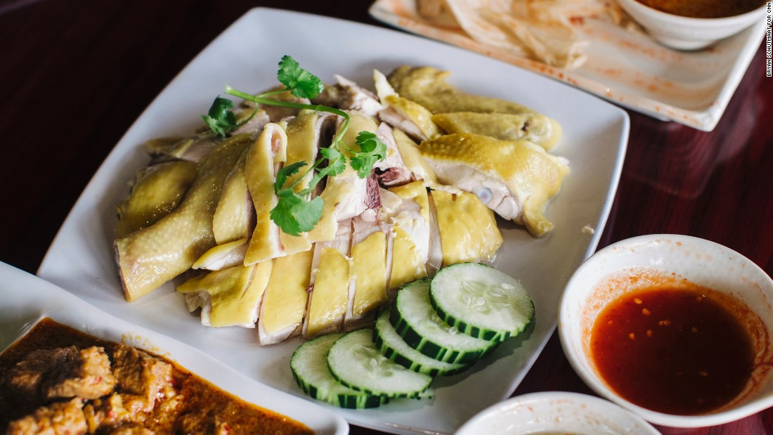 Malaysian food is one of many Asian cuisines available in Houston's Chinatown. This Hainanese chicken is on the menu at Mamak in Dun Huang Plaza.