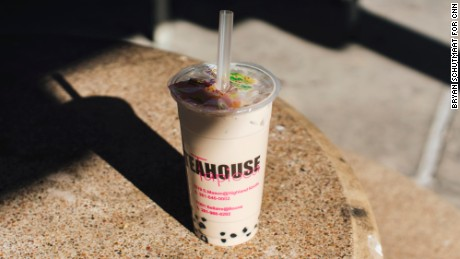 One possible shopping break? A bubble tea from Kim's Teahouse.