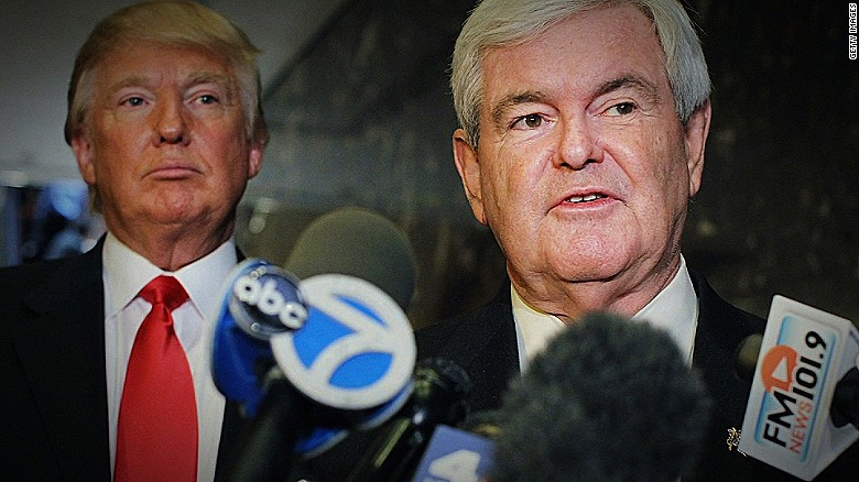Trump praises Gingrich after Megyn Kelly interview