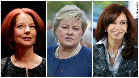 Julia Gillard, Erna Solberg, Cristina Kirchner.