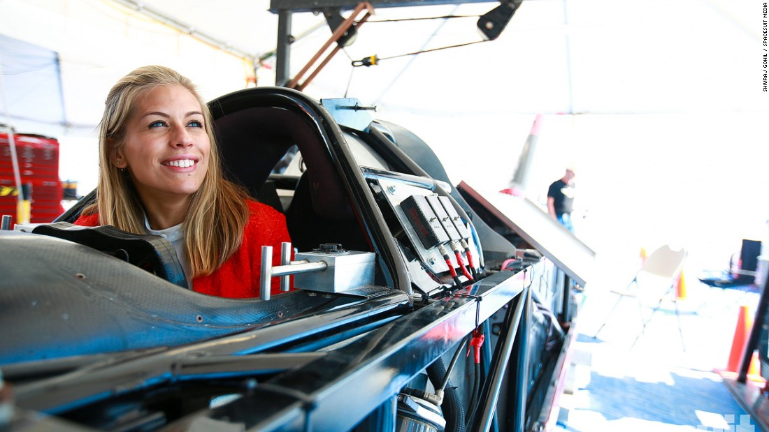 Nicki Shields inside the cockpit of the record-breaking electric car.