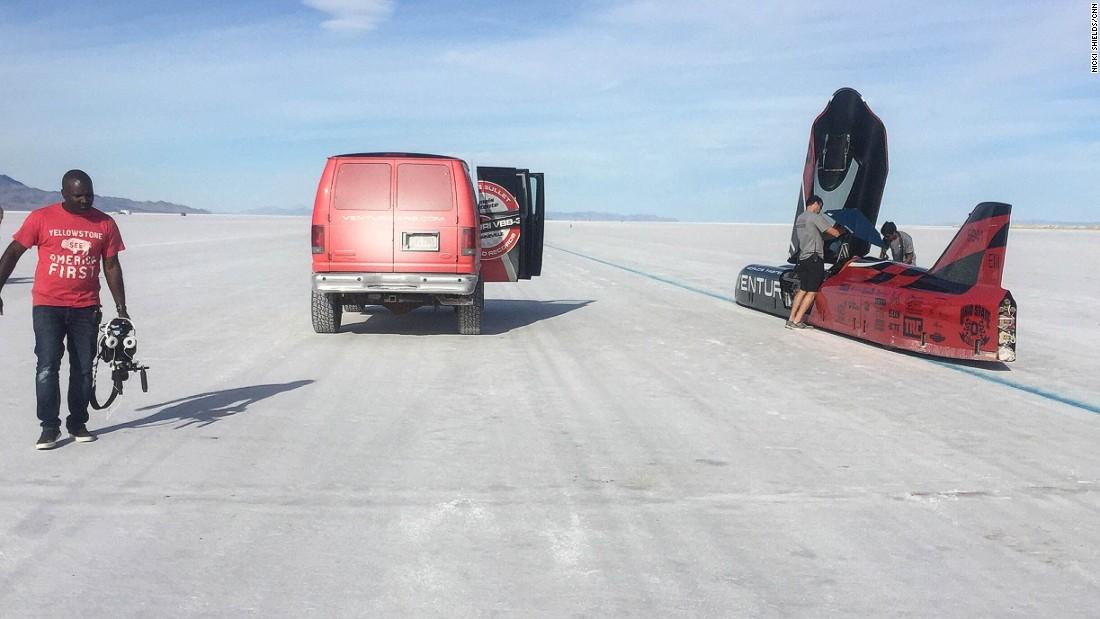 The record was broken at Utah's famous Bonneville Salt Flats.