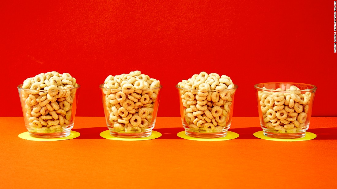 For Honey Nut Cheerios, three plus two-thirds servings equals 33 grams of sugar. (One serving is three-quarters of a cup.)