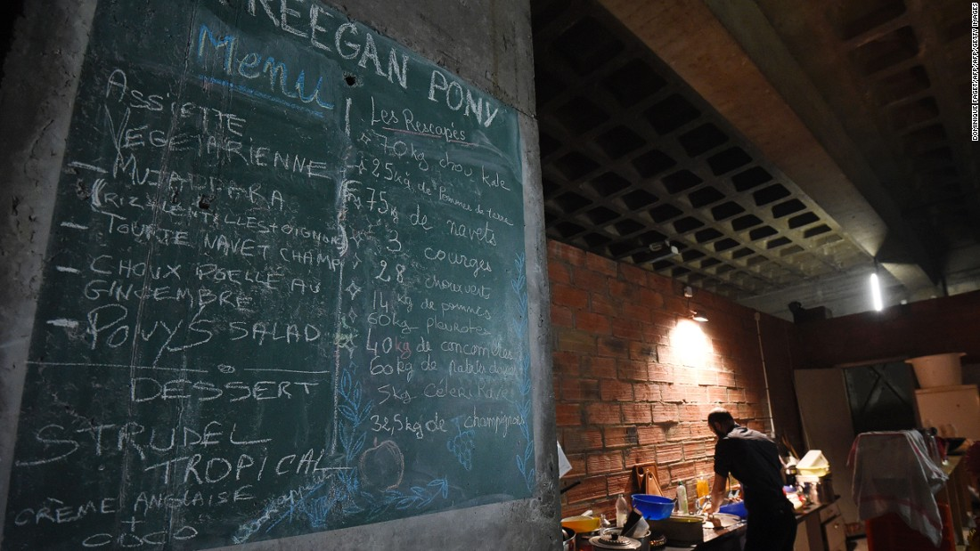 "The menu is improvised according to what's available, the kitchen is staffed by volunteers, and patrons ""pay what they feel."""