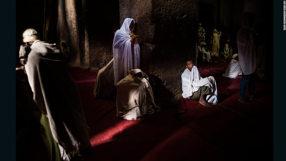Many pilgrims who flock to Lalibela spend hours, if not days, praying and sleeping inside the hand-carved churches. Up to 100,000 faithful, many of whom are blind or have disabilities, consider a blessing here to be something that must be done in one's lifetime.