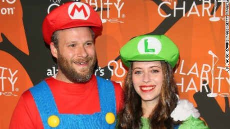 Lauren Miller and Seth Rogen attend Hilarity for Charity's 5th Annual Los Angeles Variety Show.