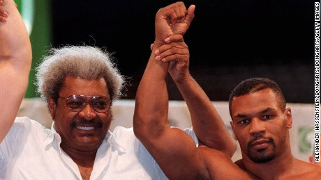 Don King and Mike Tyson in Las Vegas.