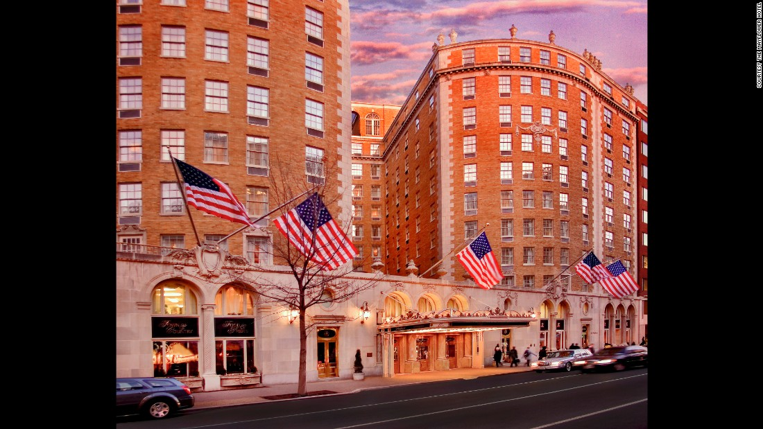 The best city center historic hotel award was won by the iconic Mayflower Hotel (1925) in Washington, DC.