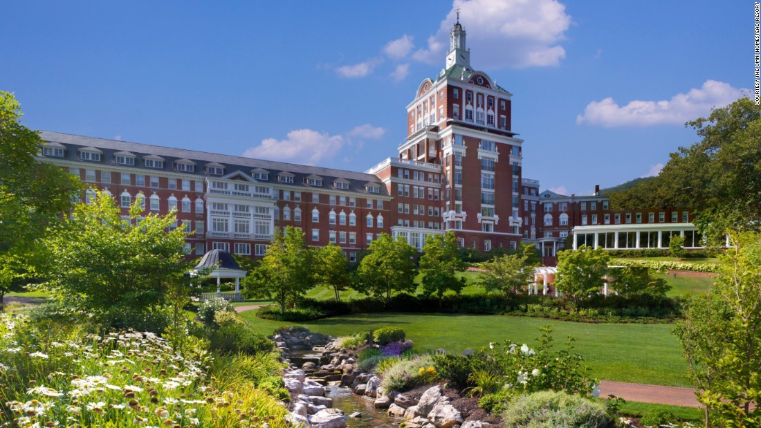 The best historic resort award went to the Omni Homestead Resort (1766) in Hot Springs, Virginia.