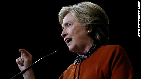 WINSTON-SALEM, NC - OCTOBER 27:  Democratic presidential nominee former Secretary of State Hillary Clinton speaks during campaign rally with First Lady Michelle Obama at Wake Forest University on October 27, 2016 in Winston-Salem, North Carolina. With less than two weeks to go before the election, Hillary Clinton is campaigning in North Carolina with First Lady Michelle Obama.