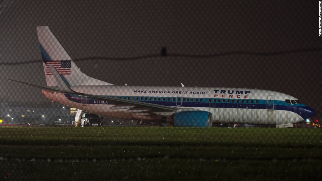 "The plane that was carrying Indiana Gov. Mike Pence, Donald Trump's running mate, <a href=""http://www.cnn.com/2016/10/27/politics/plane-carrying-pence-skids-off-runway/"" target=""_blank"">slid off a runway</a> after landing at New York's LaGuardia Airport on Thursday, October 27. No injuries were reported."