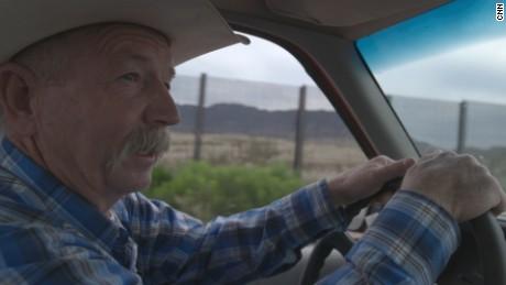 John Ladd driving on his ranch in Naco, Arizona.
