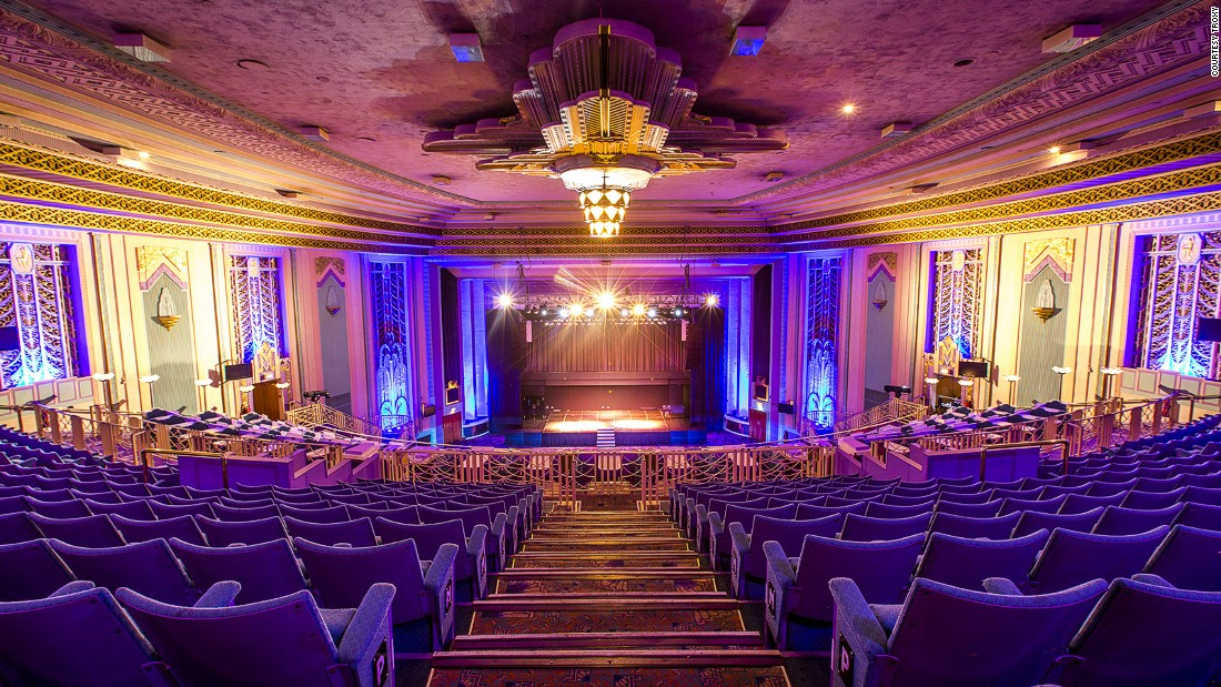 "The first feature this monster 3,520-seat <a href=""http://www.troxy.co.uk/"" target=""_blank"">art deco cinema</a> screened was ""King Kong,"" back in 1933. Now it's an ultra-glamorous music venue, with upcoming shows by Robbie Williams, The Specials and White Lies."