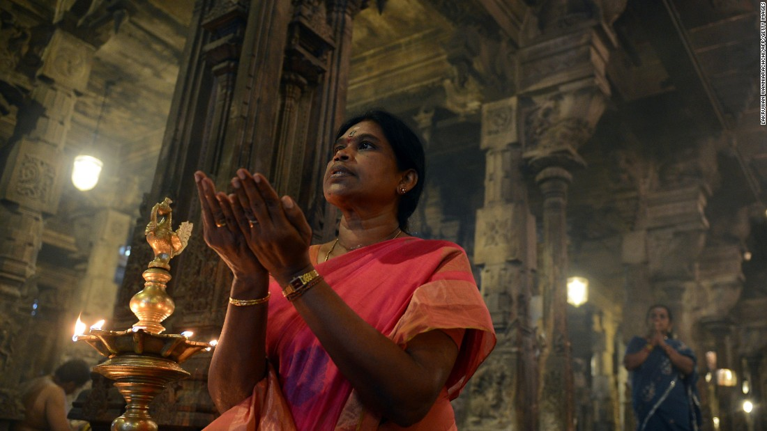 Sri Lankan Hindus pray during Diwali at a temple in Colombo on Saturday, October 29. Hindus  around the globe are adorning their houses with lamps, sharing feasts and exchanging gifts to celebrate Diwali, the festival of lights. For Hindus, light symbolizes the triumph of good over darkness, or knowledge over ignorance.