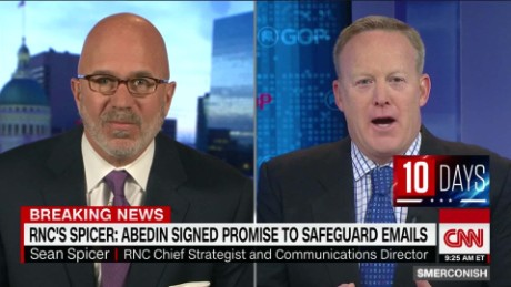 Spicer: Abedin signed security promise _00021208