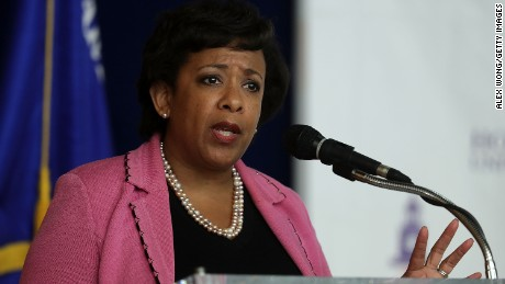 U.S. Attorney General Loretta Lynch speaks during a town hall at Howard University October 5, 2016 in Washington, DC. Howard University held a town hall on diversity in law enforcement.