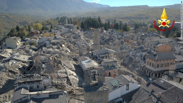 Italy devastated by earthquakes