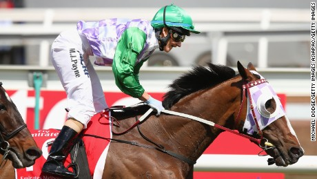 MELBOURNE, AUSTRALIA - NOVEMBER 03:  Michelle Payne riding Prince Of Penzance wins race 7 the Emirates Melbourne Cup on Melbourne Cup Day at Flemington Racecourse on November 3, 2015 in Melbourne, Australia.  (Photo by Michael Dodge/Getty Images)